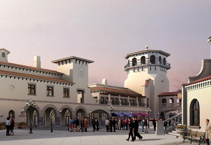 温州欧式商业街广场景观设计
